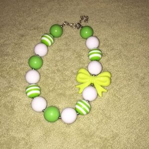 St. Patrick's day bubble gum necklace